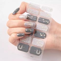 "Nail Sticker ""Grey"