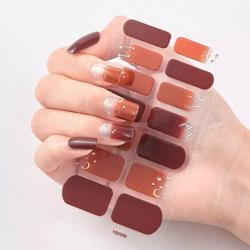 "Nail Sticker ""Maroon"""