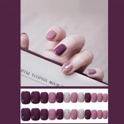 Fake Nail kuku palsu Pink Purple